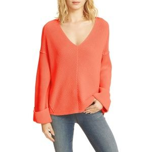 Free People | La Brea V-Neck Bell Sleeve Sweater M